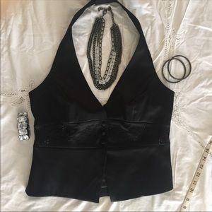 Tops - Tuxedo Style Halter Top